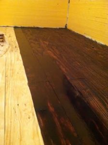 Kitchen floor in progress